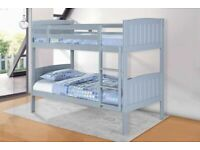 🎄🎄CHEAPEST PRICE EVER🎄70% OFF🎄WOODEN Bunk Bed with 2 MEMORY MATTRESSES 🎄SINGLE BUNK BED