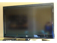 Black LG 42 Inch LCD Television - Good Condition and Working Order