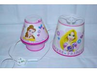 Disney Princess side lamp and lampshade