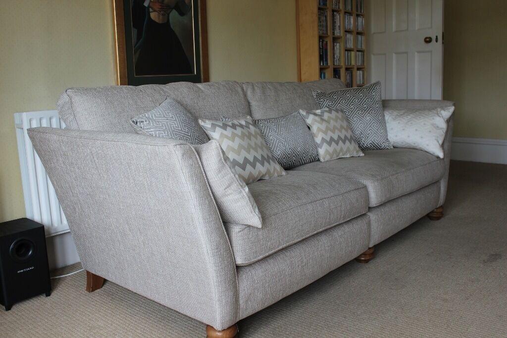 Nearly New Oak Furniture Land Four Seat Gainsborough Sofa