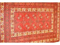 Antique persian handmade rug. Deep red. 136cm by 194cm