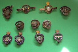11 Old British & Royal British Legion Badges---very collectable--- some numbered