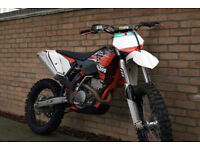KTM 250 XCF-W 2009 motocross enduro bike, trailer, helmet, stand and jacket for sale, good condition