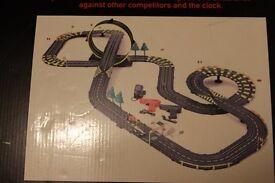 Artin Power Loop Racing slot car racetrack, loop the loop+lapcounter (like Scalextric but narrower)
