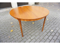 McIntosh Teak Circular Mid-Century Extendable Dining Table DELIVERY POSSIBLE EDINBURGH