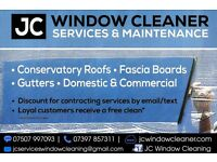 J C Window Cleaner Conservatory Roofs -Fascias - Gutters . Domestic &. Commercial.