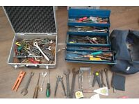 VERY NICE LOT OF HAND TOOLS SPANNERS SCREWDRIVERS NIPS ETC SEE PHOTOS(KING DICK) ROMFORD