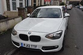 BMW 1 Series Sports 116D 2012 - WHITE