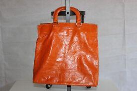 Dimoni, orange, faux leather women bag **Bargain Price**