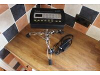 Roland TD-3 Drum Module Brain with Backplate Power Supply and Stand TD3 Hybrid