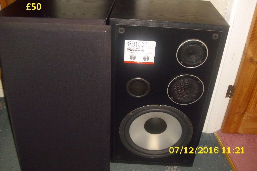 linear phase studio monitor 8810 speakers in studley warwickshire gumtree. Black Bedroom Furniture Sets. Home Design Ideas