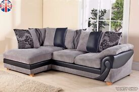 Illusion Corner Group Sofa Settee Leather Fabric Right Hand Left Hand Side