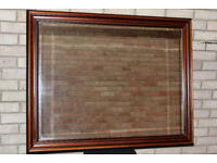 Large wall mirror - dark wood frame