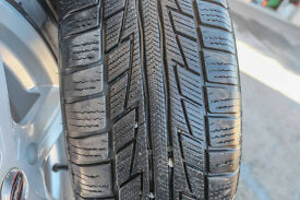 Set of Snow Tyres on Alloy Wheels