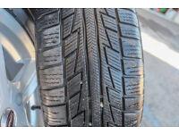 Set of Snow Tyres on Alloy Wheels