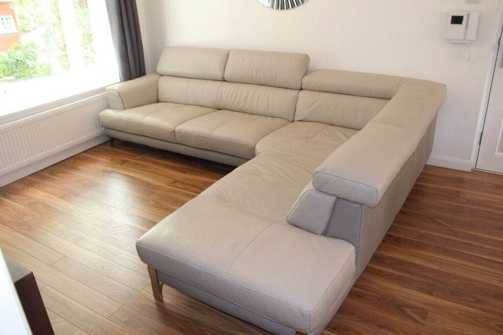 Luxurious Italian Style Large Corner Sofa From Dfs