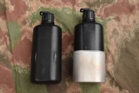 TWO Swiss Army/Military Water Bottles and Nested Mug