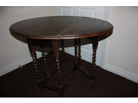 Antique barley twist dining drop leaf table, ideal shabby chic project!