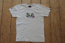 Mens Quiksilver Cotton Crew Neck T Shirt - Size S