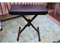 FOLDING STOOL HEIGHT ADJUSTABLE FOR KEYBOARD OR PIANO OR ANY OTHER USE!