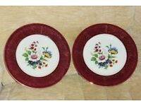 2 Beautiful Flower Pattern Plates, 10.5 inches diameter,Perfect for Serving Cakes,Scones etc, Histon
