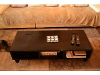 FREE BLACK HIGH GLOSS COFFEE TABLE WITH STORAGE