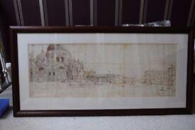 Large Framed Venice Print