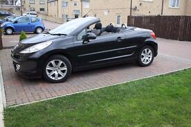 2008 PEUGEOT 207 cc sport 1.6 petol CONVERTIBLE 46.000 miles IN VERY GOOD CONDITION