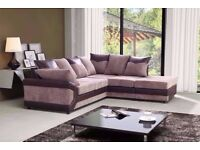 🌺🌺BLACK GREY 🌺DINO JUMBO CORD CORNER or 3 and 2 Seater SOFA SET AT VERY CHEAP PRICE
