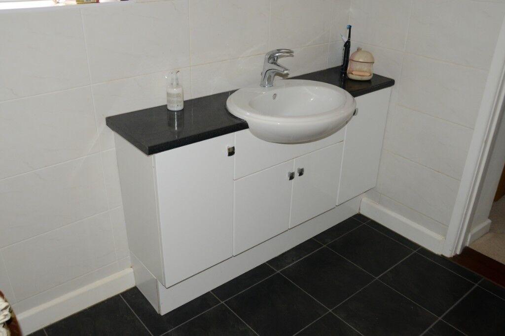 Vanity Unit Semi Recessed Basin Monobloc Mixer Tap And