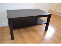 Ikea coffee table LACK wood Black-Brown with shelf, good condition
