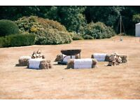 Hay Bale dressing sheet and rope for wedding event etc