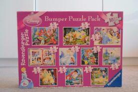 Disney Bumper Puzzle pack 10 in one box