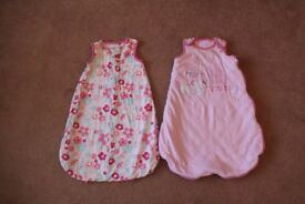 x 2 Baby girl sleep bags