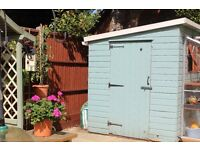 Wooden Pent Garden Shed 8 ft. x 6ft. Excellent condition. Buyer collects