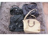 4 handbags, £10 the lot or will split. collect from Torquay.