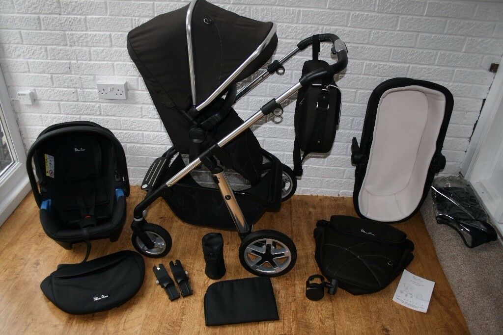 Silver Cross Pioneer black pram travel system 3 in 1 ***can post***