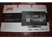 "BRAND NEW JVC LT-50C750 50"" LED HD SMART TV BUILT-IN DVD Freeview USB Record, Pause & Play HDMI"