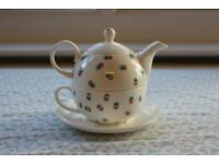 Hand Painted Teapot with Cup