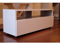 Habitat KUBRIK White High Gloss AV TV Unit - perfect condition. Pickup only (Tooting area)