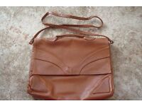 Tan leather satchel type bag