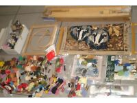 Large Lot Of Tapestry Embroidery Cross Stitch Wool Frames etc