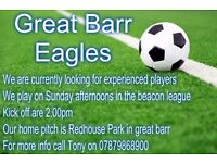 Experienced Players Wanted In Birmingham