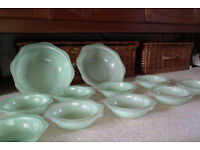 1950's / 60's fruit / glass dessert bowls and serving dishes.