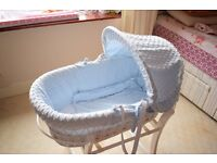 Moses Basket with Rocking Mothercare Stand