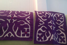 Pair of brand new 100% cotton cushion covers