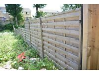 10 x 6ft x 6ft (1800 x 1800) Good Quality Fence Panels *** 12 Months Old ***