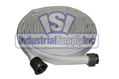 "1-1/2"" x 50' Double Jacket Fire Hose Coupled w/ Aluminum NST ends"