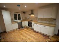 Howden's cream & white Burford Kitchen, approx 3 yrs old includes extractor, oven, hob, sink and tap