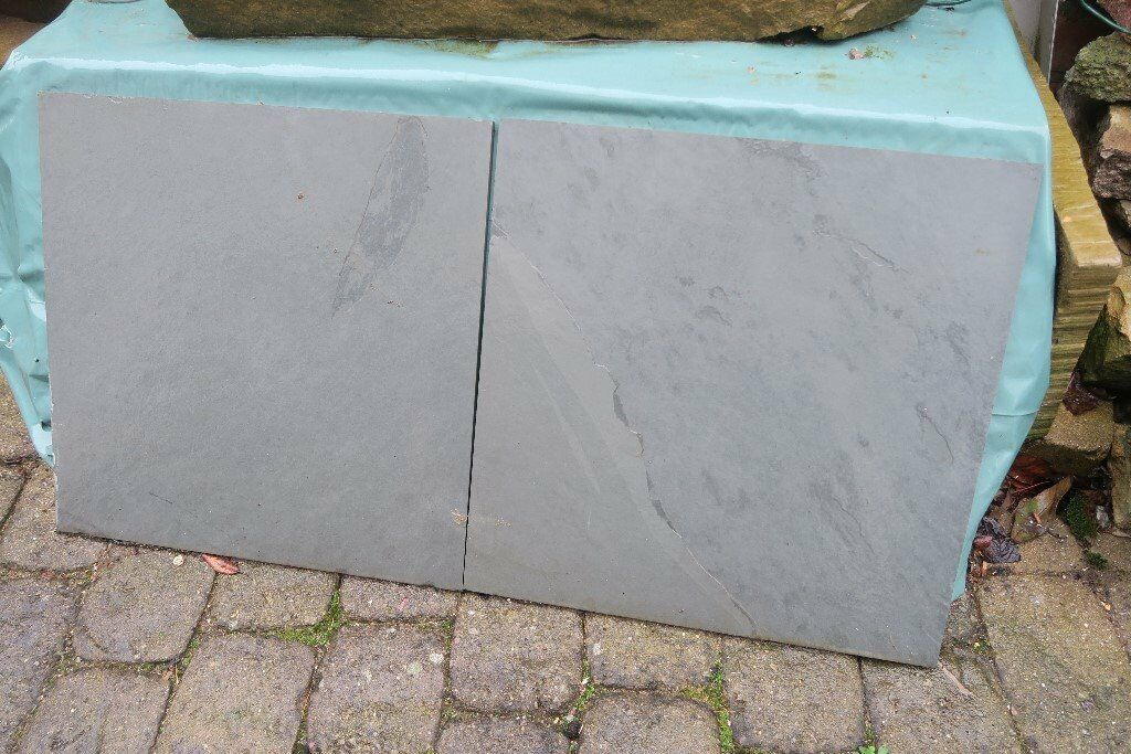 Brazilian Green Grey Slate Calibrated Tiles 40mm X40mm X 10mm In